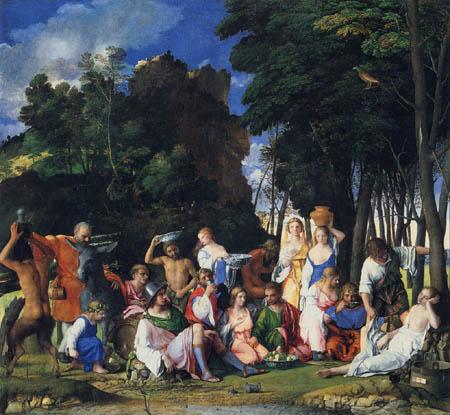 Giovanni Bellini (Giambellino) - La fiesta de Dioses