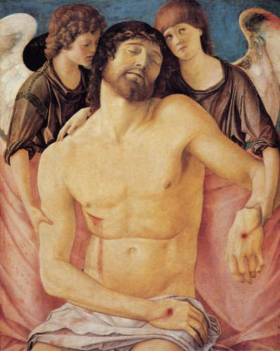 Giovanni Bellini (Giambellino) - The dead Christ is supported by an angel