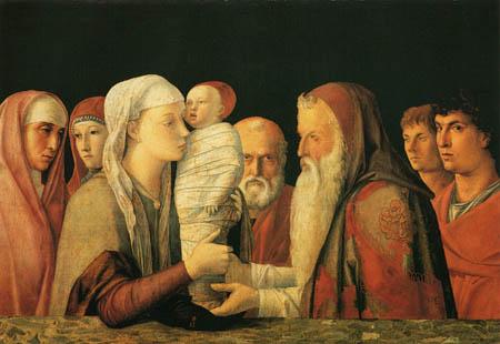 Giovanni Bellini (Giambellino) - Offering in the temple