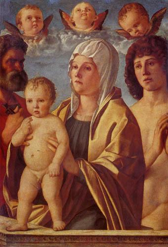 Giovanni Bellini (Giambellino) - Maria mit dem Kind