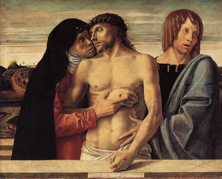 Giovanni Bellini (Giambellino) - Pieta mit Maria und Johannes