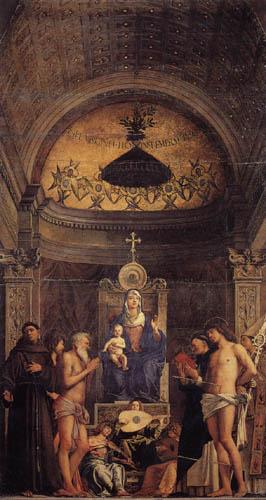 Giovanni Bellini (Giambellino) - Madonna with Four Saints