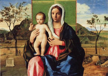 Giovanni Bellini (Giambellino) - Madonna with child