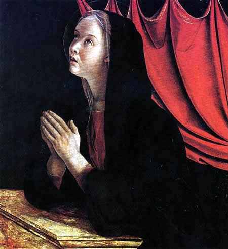Giovanni Bellini (Giambellino) - Verkündigung aus dem Polyptychon des Hl. V.Ferrer