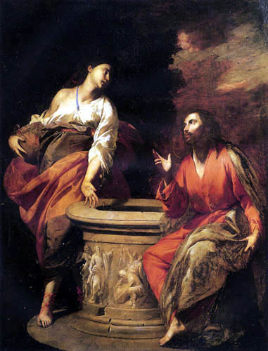 Antonio de Bellis - Christ and the Woman of Samaria at the Well