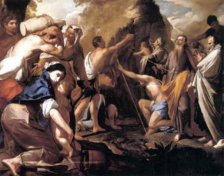 Antonio de Bellis - Moses Strikes Water from the Stone