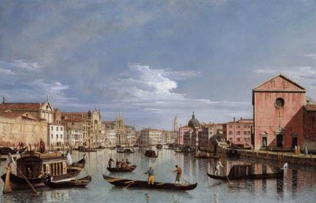 Bernardo Bellotto, Belotto (Canaletto) - Canal Grande, Venecia