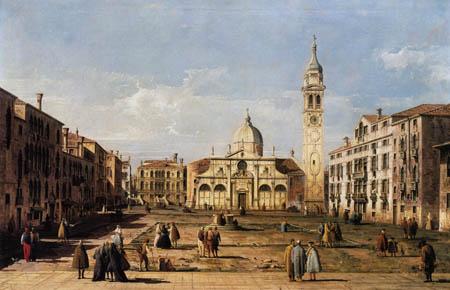 Bernardo Bellotto, Belotto (Canaletto) - View of the church Santa Maria Formosa, Venice