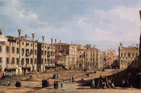 Bernardo Bellotto, Belotto (Canaletto) - View of Santo Stefano, Venice