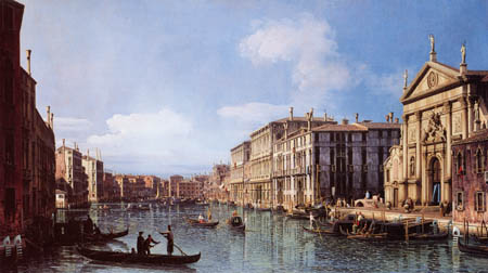 Bernardo Bellotto, Belotto (Canaletto) - Canal Grande and the church San Stae, Venice