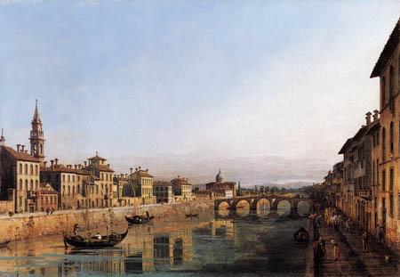 Bernardo Bellotto, Belotto (Canaletto) - Arno with the Carraia bridge, Florence