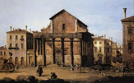 Bernardo Bellotto, Belotto (Canaletto) - Tempel von Antoninus und Faustina, Rom