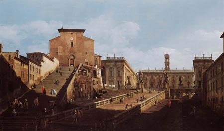 Bernardo Bellotto, Belotto (Canaletto) - Santa Maria dÁracoeli, Rom