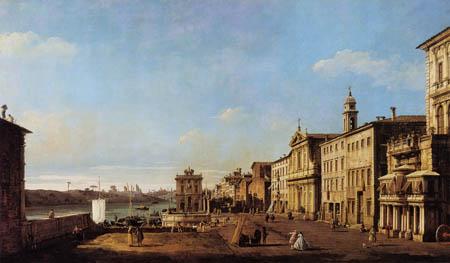 Bernardo Bellotto, Belotto (Canaletto) - Via di Ripetta, Rome