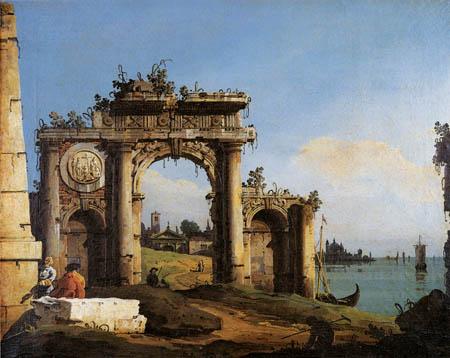 Bernardo Bellotto, Belotto (Canaletto) - Triumphbogen