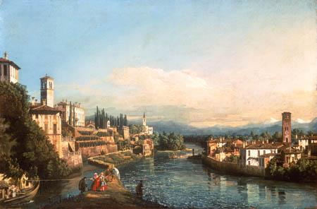 Bernardo Bellotto, Belotto (Canaletto) - View of Vaprio and Canonica