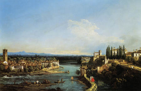 Bernardo Bellotto, Belotto (Canaletto) - View of Canonica and Vaprio