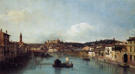 Bernardo Bellotto, Belotto (Canaletto) - View of Verona