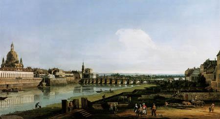Bernardo Bellotto, Belotto (Canaletto) - Dresden on the Right Bank of the Elbe