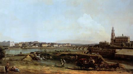 Bernardo Bellotto, Belotto (Canaletto) - Dresden with the Bank of the Elbe