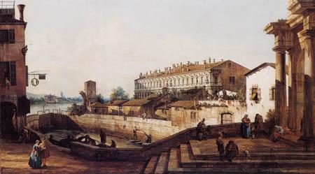 Bernardo Bellotto, Belotto (Canaletto) - Schleuse von Dolo