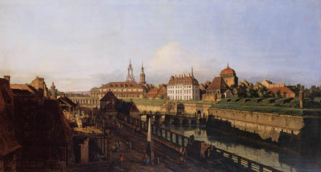 Bernardo Bellotto, Belotto (Canaletto) - The old Fortification in Dresden