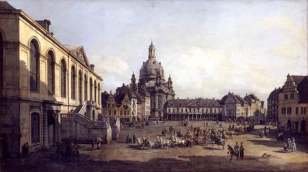 Bernardo Bellotto, Belotto (Canaletto) - The Neumarkt in Dresden