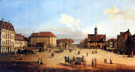 Bernardo Bellotto, Belotto (Canaletto) - Marktplatz, Dresden Neustadt