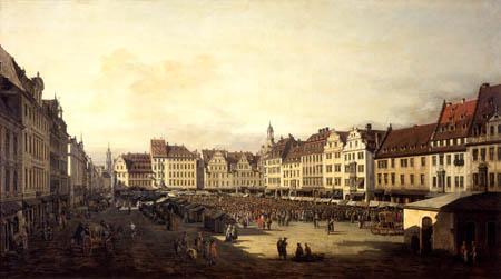 Bernardo Bellotto, Belotto (Canaletto) - Old market place in Dresden