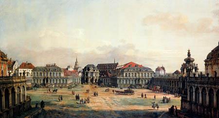 Bernardo Bellotto, Belotto (Canaletto) - Das Gefängnis der Zwingers, Dresden