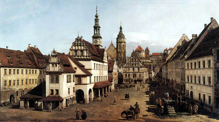 Bernardo Bellotto, Belotto (Canaletto) - The market place of Pirna