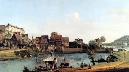 Bernardo Bellotto, Belotto (Canaletto) - Pirna from the Boatmen´s Village