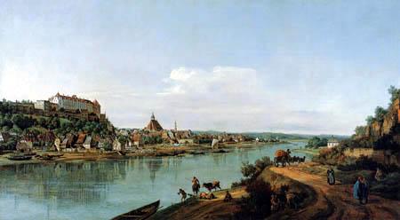 Bernardo Bellotto, Belotto (Canaletto) - Pirna seen from the right bank of the Elbe