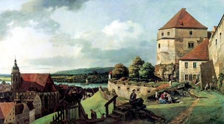 Bernardo Bellotto, Belotto (Canaletto) - Fort Sonnenstein, Pirna