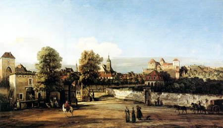 Bernardo Bellotto, Belotto (Canaletto) - Pirna von Westen mit dem Dohnator