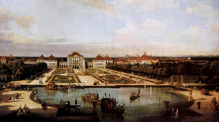 Bernardo Bellotto, Belotto (Canaletto) - The Nymphenburg palace with park