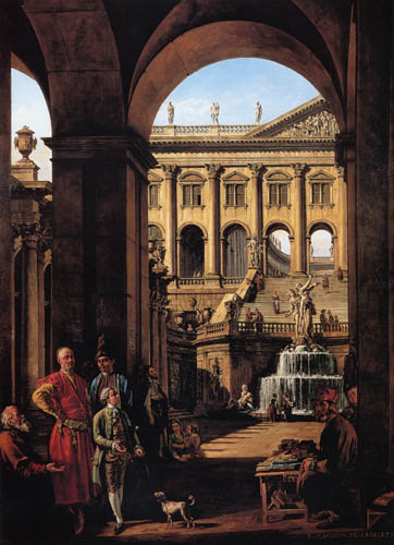 Bernardo Bellotto, Belotto (Canaletto) - Capriccio