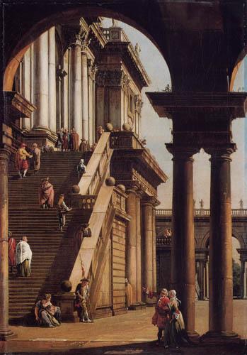 Bernardo Bellotto, Belotto (Canaletto) - Motivstudie des Senatorenpalastes