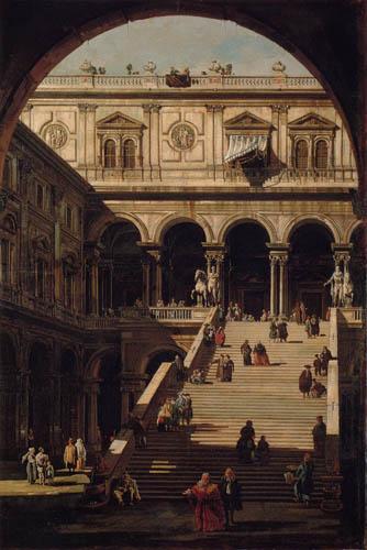 Bernardo Bellotto, Belotto (Canaletto) - Motivstudie Palazzo Ducale