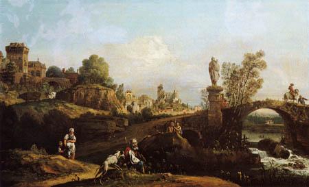 Bernardo Bellotto, Belotto (Canaletto) - Landscape, Study