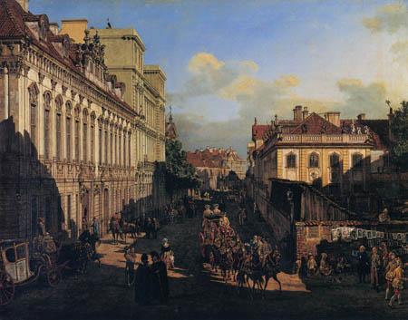 Bernardo Bellotto, Belotto (Canaletto) - Rue Miodowa, Varsovie
