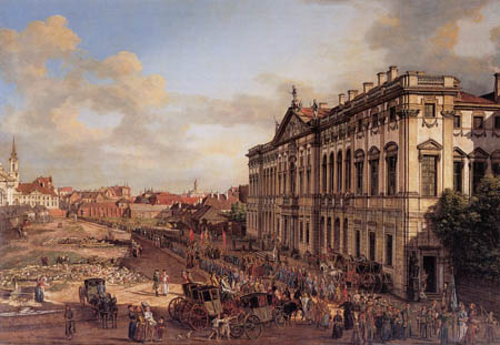 Bernardo Bellotto, Belotto (Canaletto) - Palais de la République de Pologne, Varsovie