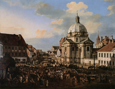 Bernardo Bellotto, Belotto (Canaletto) - Église, Varsovie