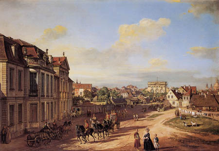 Bernardo Bellotto, Belotto (Canaletto) - Palais de Lubomirski, Varsovie