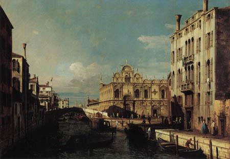 Bernardo Bellotto, Belotto (Canaletto) - View of  Rio dei Medicanti, Venice