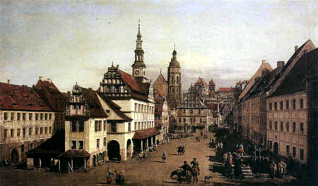 Bernardo Bellotto, Belotto (Canaletto) - The Market of Pirna