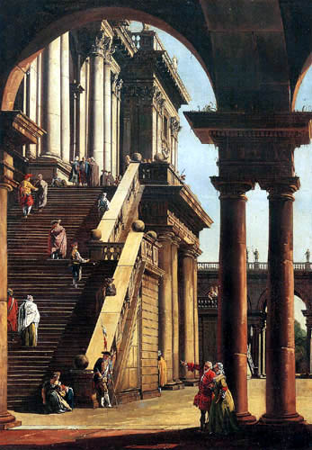 Bernardo Bellotto, Belotto (Canaletto) - Capriccio in Rome