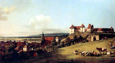 Bernardo Bellotto, Belotto (Canaletto) - Festung Sonnenstein nahe Pirna