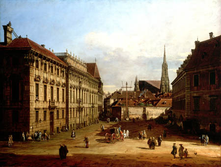 Bernardo Bellotto, Belotto (Canaletto) - The Lobkowitz Place in Vienna