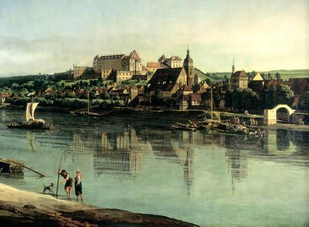 Bernardo Bellotto, Belotto (Canaletto) - Pirna vom rechten Elbufer
